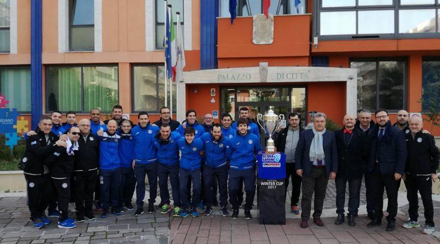 Squadra, staff e dirigenza al Comune di Montesilvano
